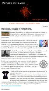 2015-07 Lettre d'info d'Olivier Mellano