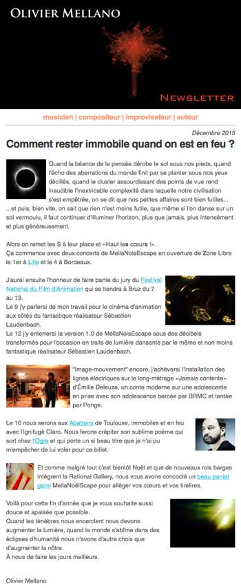 2015 12 Lettre d'info d'Olivier Mellano