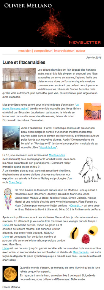 2016-01 Lettre d'info d'Olivier Mellano