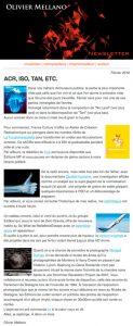 2016-02 Lettre d'info d'Olivier Mellano