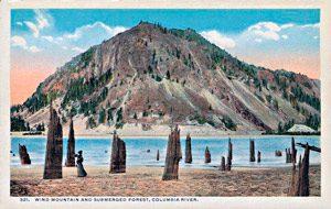 Carte postale montagne et vent