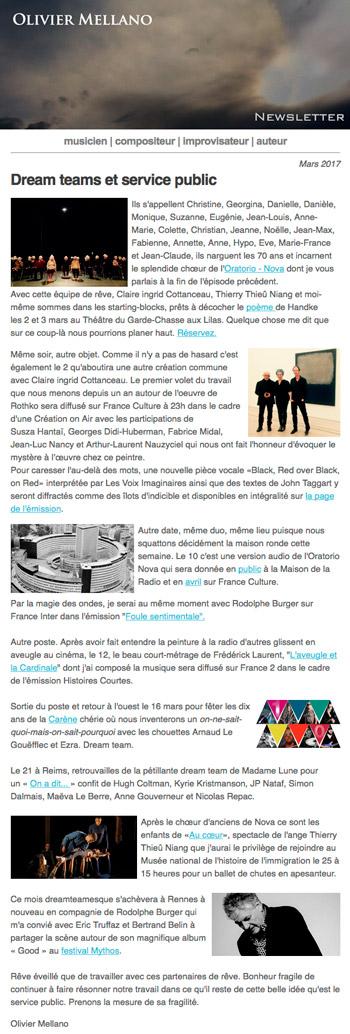 2017-03 Lettre d'info d'Olivier Mellano