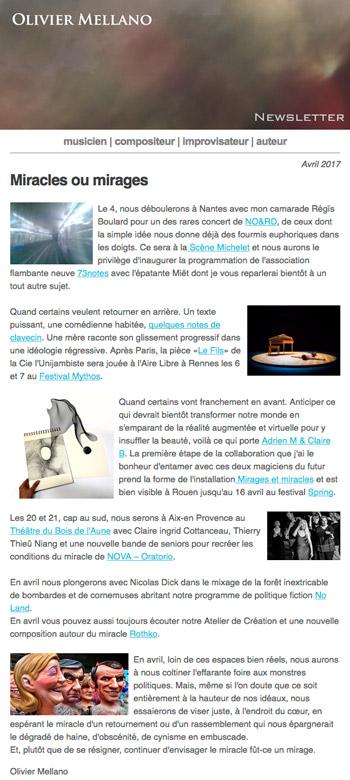 2017-04 Lettre d'info d'Olivier Mellano