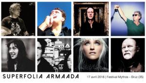 Superfolia Armaada avec Nicolas Dick, Brendan Perry, Miët, Tomaga, Régis Boulard, John Greaves, Kyrie Kristmanson - Mythos