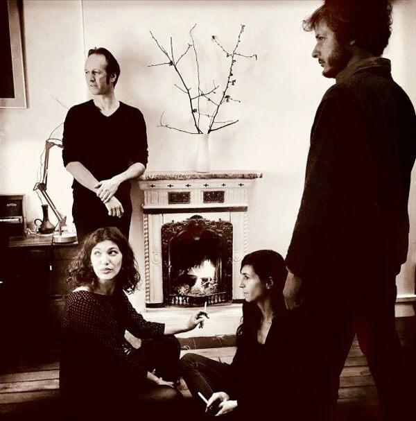 Ici-bas par BAUM : Olivier Mellano, Maëva Le Berre, Anne Gouverneur, Simon Dalmais (photo Richard Dumas)