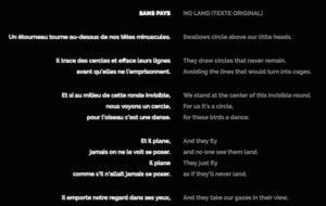 Accédez aux textes de No Land dans 19 langues différentes