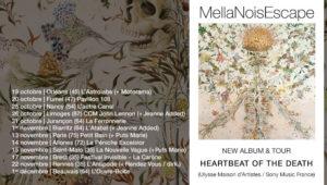 MellaNoisEscape on tour - Heartbeat of the Death (painting Haruko Maeda)