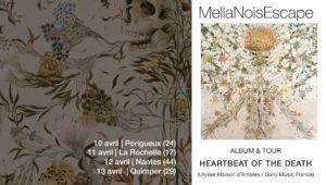 En concert MellaNoisEscape - Heartbeat of the Death (painting Haruko Maeda)