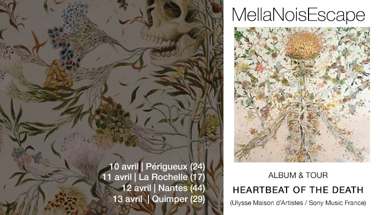 En concert MellaNoisEscape - Heartbeat of the Death (painting Haruko Maeda)