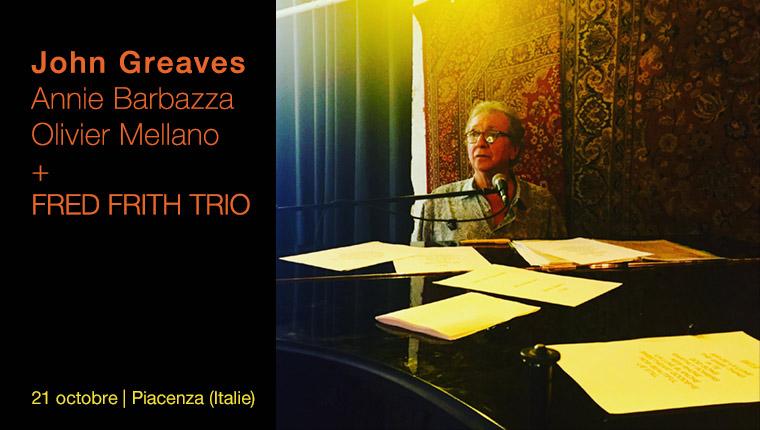 John Greaves en concert à Piacenza