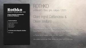 ROTHKO untitled#3 / Noir, gris, calque / 2020 (livre)