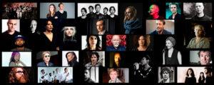Olivier Mellano a collaboré avec + de 350 artistes (Brendan Perry, Laure Limongi, Mona Soyoc, Dominique A, Dalek, Sok, ...