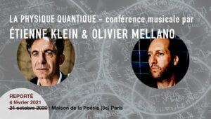 conférence musicale avec Etienne Klein et Olivier Mellano