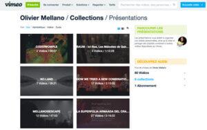 Média vidéo Vimeo Olivier Mellano