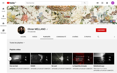Média vidéo YouTube Olivier Mellano