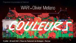 Projections monumentales avec WAR! et Olivier Mellano à Rennes